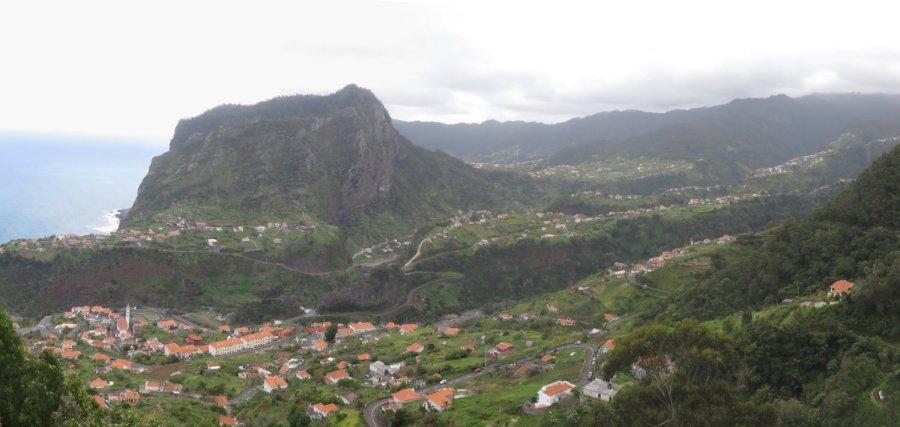 Vue panoramique sur Faial - Madère
