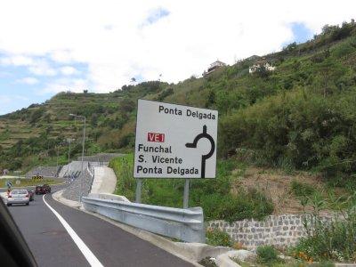 Sur la route de Ponta Delgada - Madère