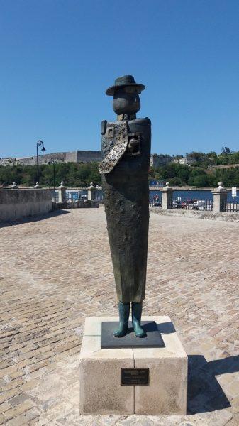 Soldat de bronze devant le Castillo Real Fuerza - La Havane (Cuba)