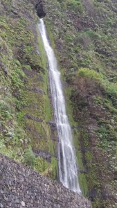 Chutes d'eau au Miradouro do Véu da Noiva - Madère