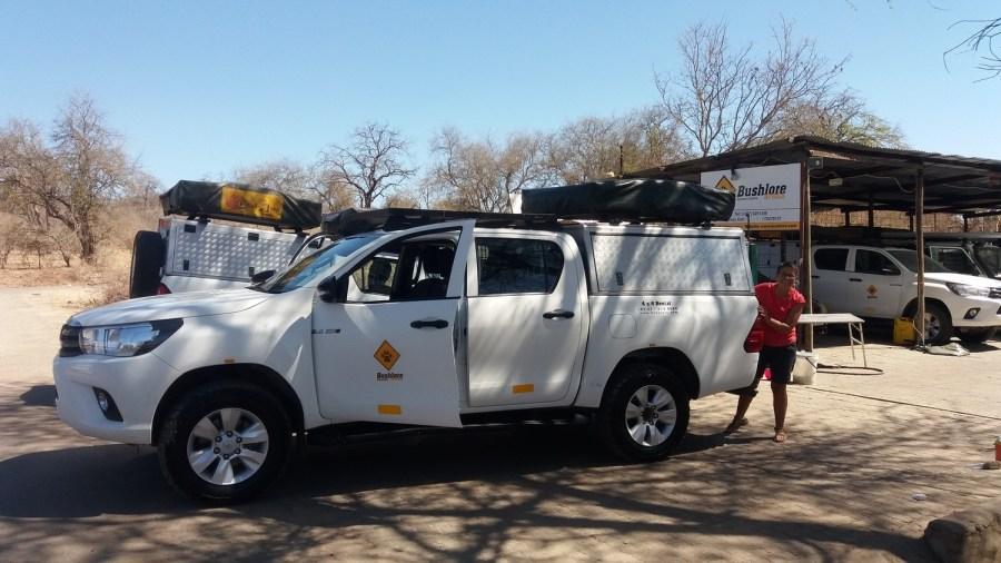 Prise en charge du 4x4 à Kasane - Botswana