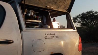 Au petit matin au campsite de Savuti - Botswana
