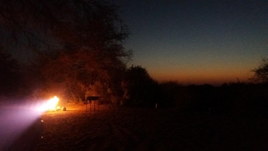 Bivouac au campsite de Khumaga au bord de la rivière Boteti - Botswana