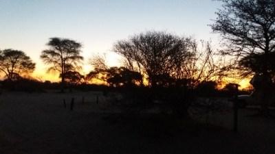 Lever du jour au campsite de Khumaga - Botswana