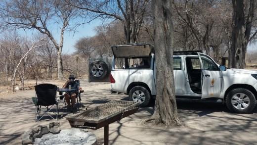 Au campsite de South Camp - Nxai Pan NP - Botswana