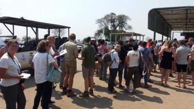 A la frontière Botswana/Zimbabwe