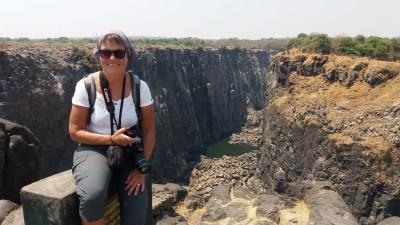 Devant les Victoria Falls - Zimbabwe