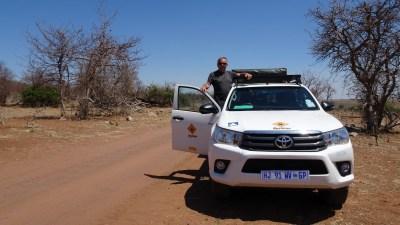 Sur la piste du parc national de Chobe - Botswana