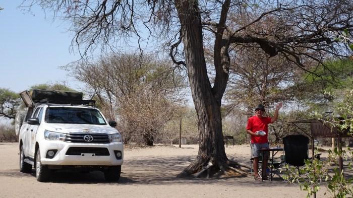 Au campsite de Khumaga - Makgadikgadi NP (Botswana)