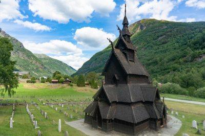 Eglise en bois debout de Borgund - Norvège
