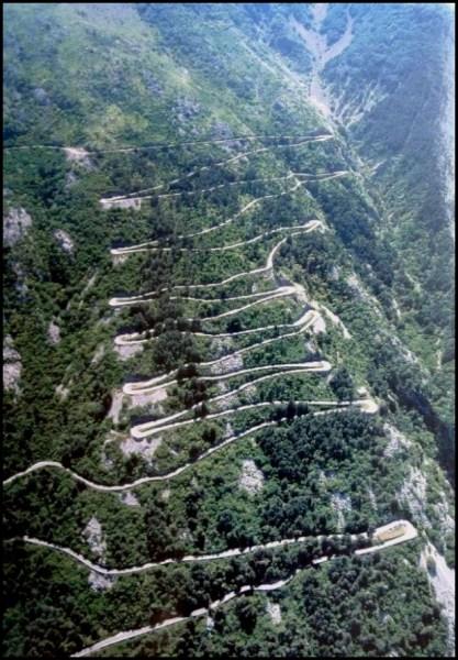 La Route mythique Serpentine entre Kotor et Cetinje - Monténégro
