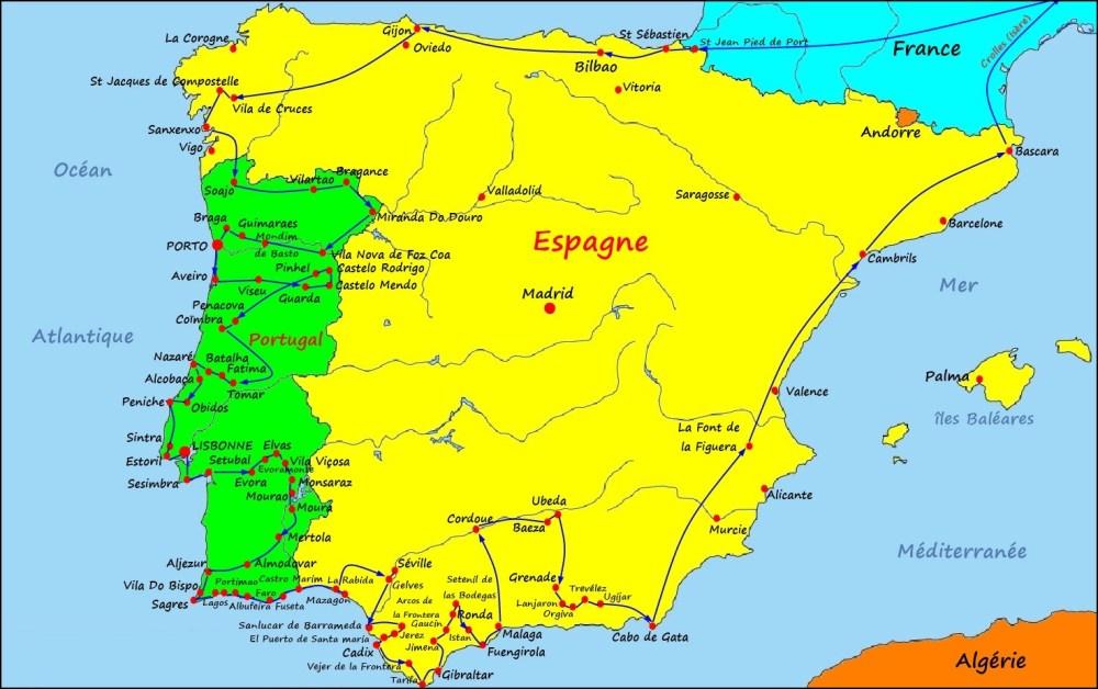 Notre circuit en Espagne et Portugal (2016)