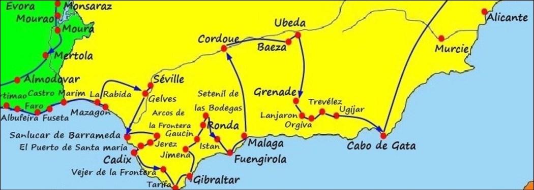 L'Andalousie (Espagne) - De Mazagon à Cabo de Gata