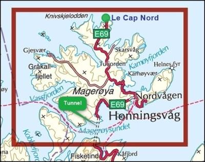 Le Cap Nord sur l'île de Mageroya - Norvège