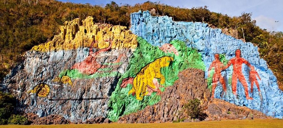 Le mur de la préhistoire - Vinales (Cuba)