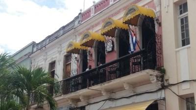 Notre restaurant dans les rues piétonnes de Cienfuegos - Cuba