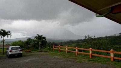 Vue sur le volcan Arenal depuis notre hôtel d'El Castillo - Costa Rica