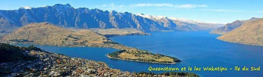 Queenstown et le lac Wakatipu - île du Sud