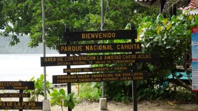 Entrée du parc de Cahuita secteur Kelly Creek - Costa Rica