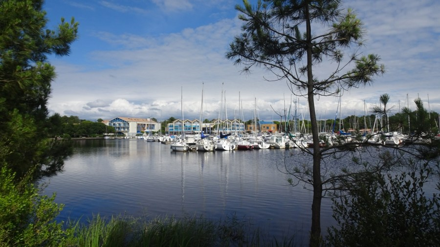 Le port de plaisance du lac d'Hourtin
