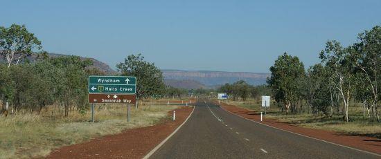 Direction Purnululu NP - Australie