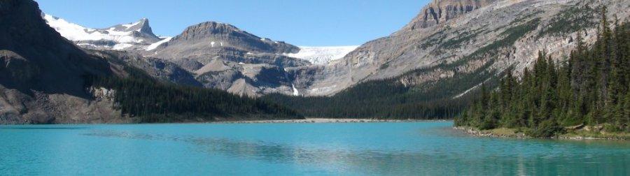 Le lac Bow et le glacier - Rocheuses canadiennes