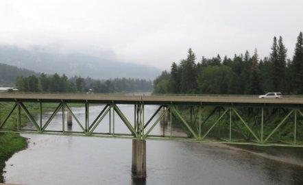 Sur la route entre Alberton et Spokane - USA