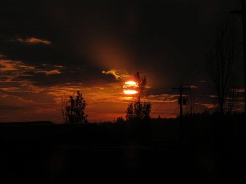 Coucher de soleil au camping Spokane Koa - Washington (USA)