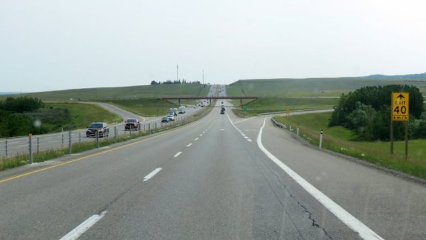 Entre Canmore et Calgary - Canada