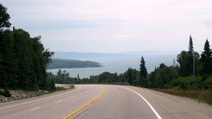 Le lac Supérieur avant Sault Sainte Marie - Ontario (Canada)
