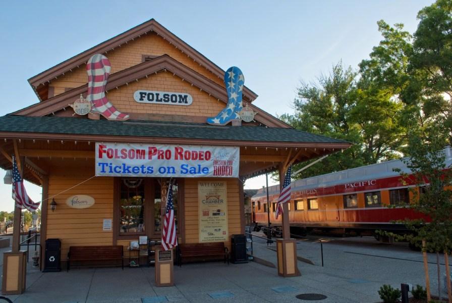 La gare - centre historique de Folsom - Californie (USA)