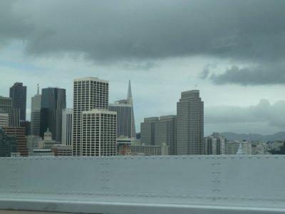 San Francisco vue du Oakland Bay Bridge (USA)