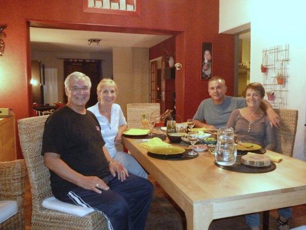 Notre échange : de gauche à droite David, Joyce, Luc, Myriam