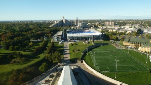 Vue depuis le stade olympique de Montréal