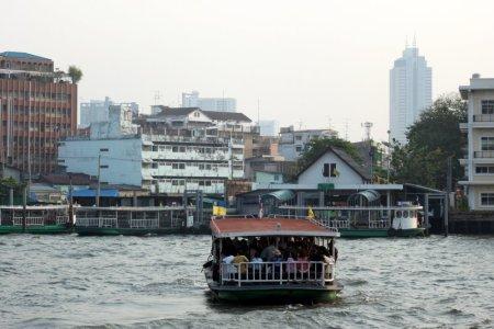 Les klongs au bord du quartier chinois de Bangkok - Thaïlande