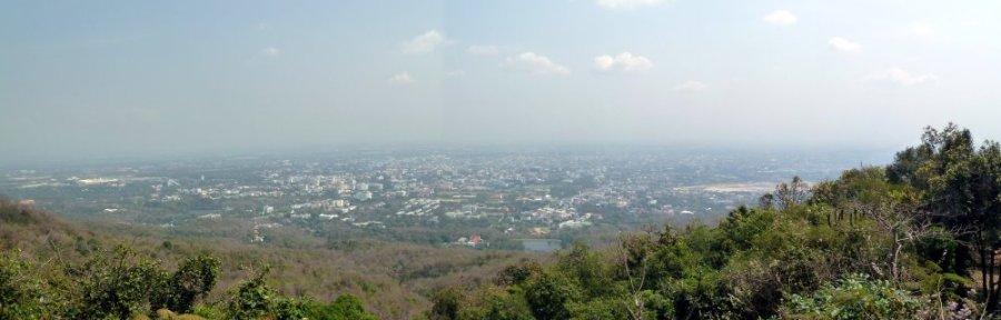 Depuis le temple Doi Suthep de Chiang Mai - Thaïlande