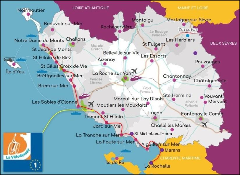 La Vélodyssée en Vendée - France