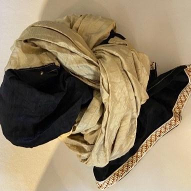 sciarpa in shantung di seta