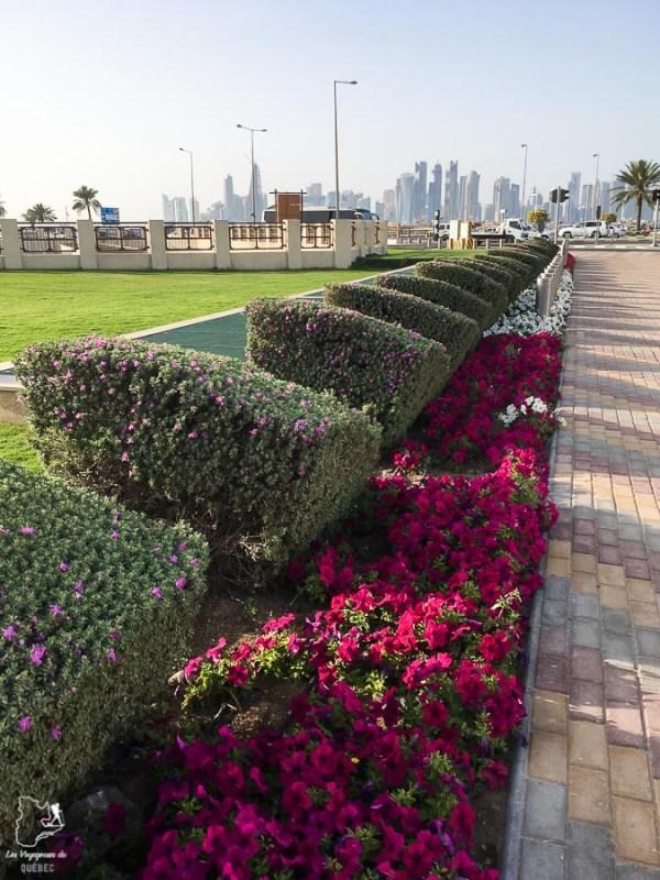 La Corniche, la promenade de Doha dans notre article Visiter Doha au Qatar: Que faire pendant une escale à Doha de 24 heures #doha #qatar #voyage #escale