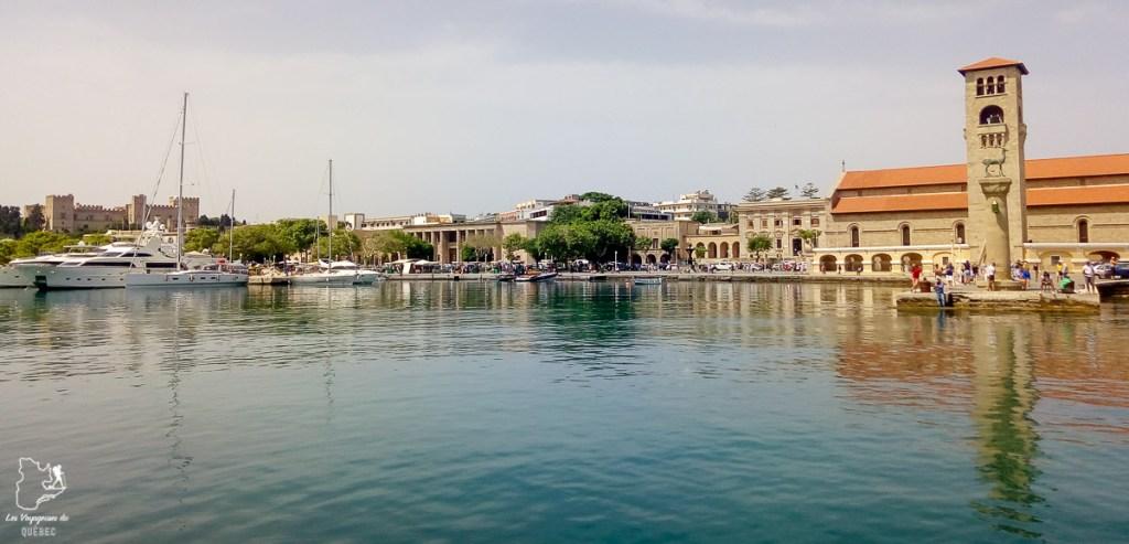 Port de Mandraki à Rhodes dans mon article Rhodes en Grèce : Petit guide pour savoir que faire à Rhodes et visiter #rhodes #ilesderhodes #rhodesengrece #grece #ile