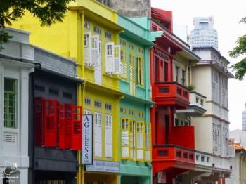 Maisons d'un quartier de Singapour dans notre article Où partir seule en tant que femme : 12 destinations pour un voyage en solo #voyage #femme #voyagersolo #singapour