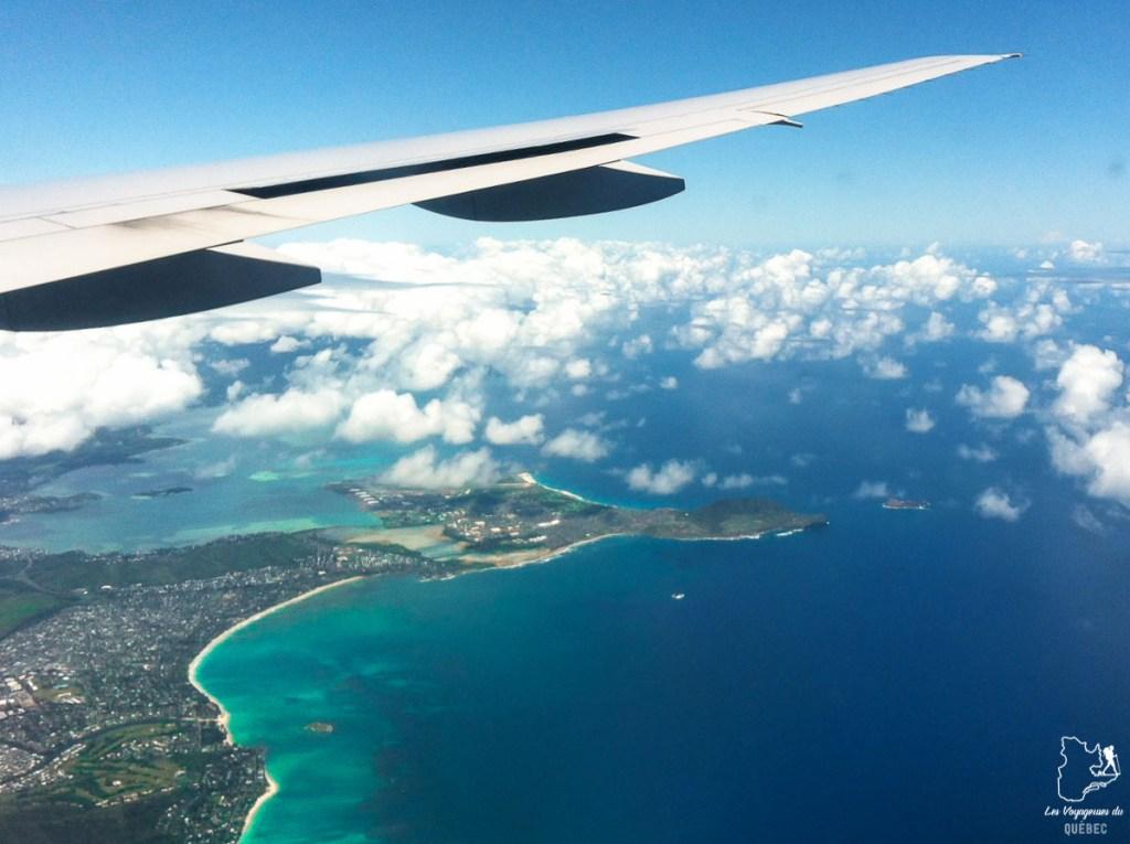 En avion pour mon voyage à Honolulu dans notre article Que faire à Honolulu sur l'île d'Oahu à Hawaii #oahu #honolulu #hawaii #hawaï #voyage
