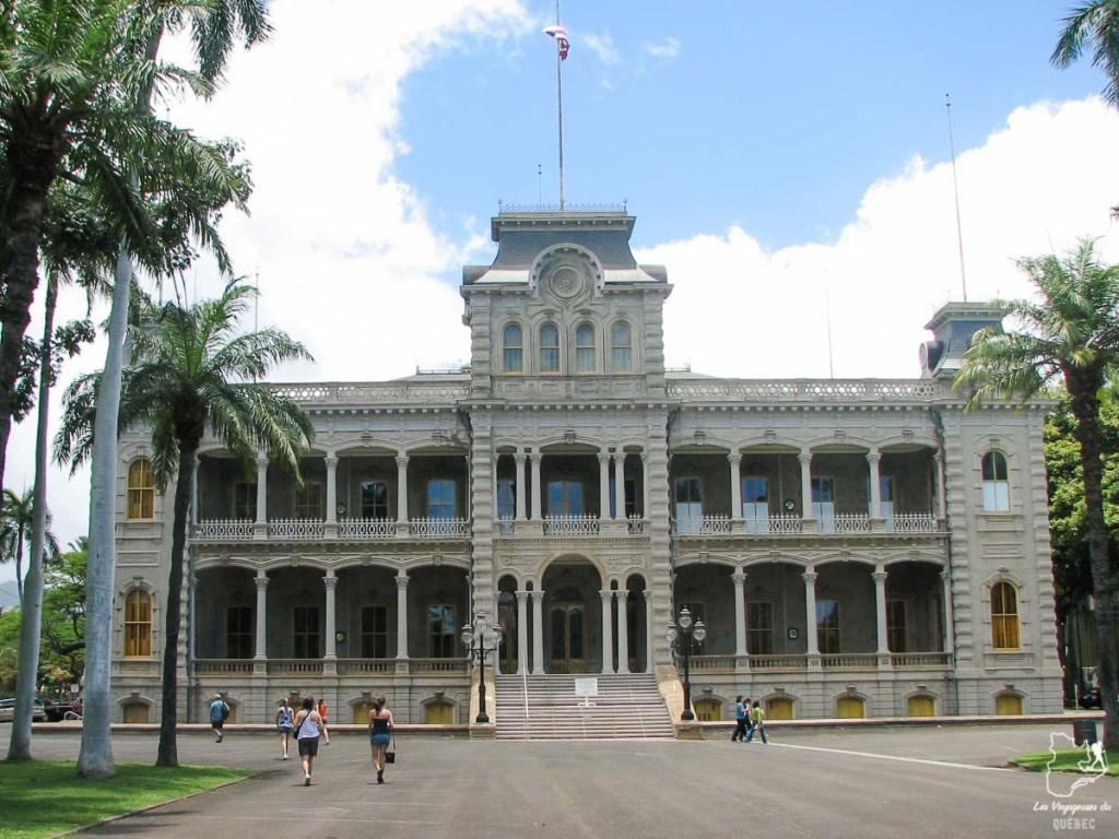 Le palais Iolani à Honolulu à Oahu dans notre article Que faire à Honolulu sur l'île d'Oahu à Hawaii #oahu #honolulu #hawaii #hawaï #voyage