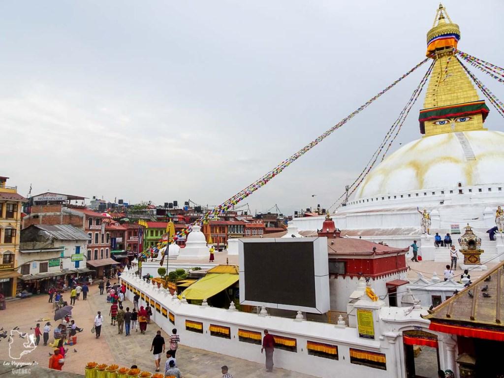 Visiter Katmandou et le plus grand stupa au monde, le stupa Bodnath dans notre article Que faire à Katmandou au Népal : Mes incontournables à visiter #katmandou #nepal #asie #incontournables
