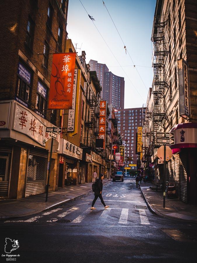 Quartier de Chinatown dans Manhattan à New York dans notre article Manhattan à New York : exploration urbaine des quartiers de Manhattan #newyork #ville #usa #manhattan #etatsunis #amerique #citytrip #chinatown
