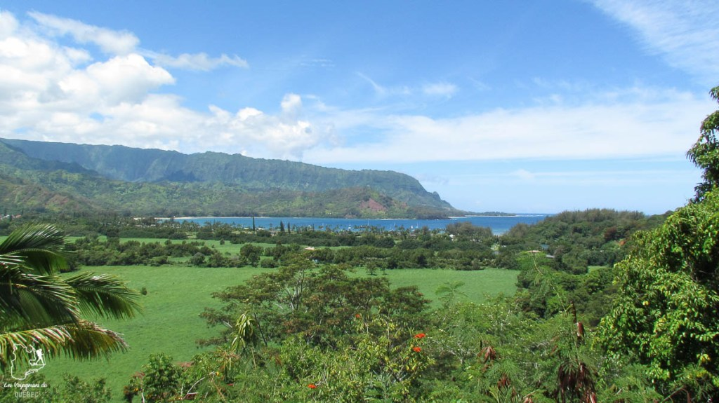 Hanalei valley lookout à Kauai à Hawaii dans notre article sur Visiter Kauai à Hawaii : 12 incontournables à faire sur l'île de Kauai #kauai #hawaii #voyage #usa #ile #iledekauai #kauaihawaii