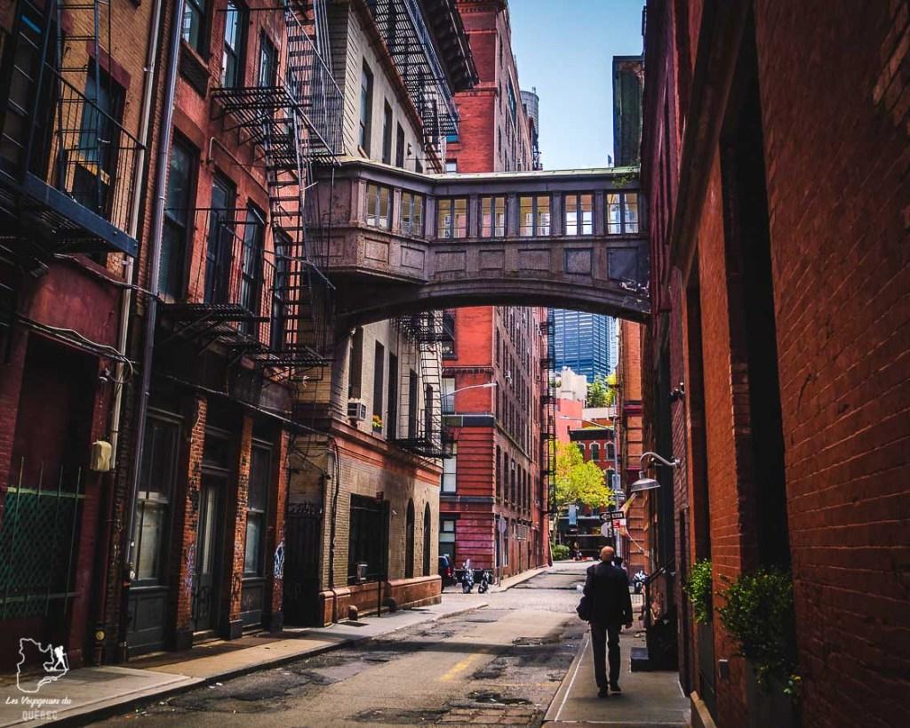 Skybridge dans le quartier Tribeca dans Manhattan à New York dans notre article Manhattan à New York : exploration urbaine des quartiers de Manhattan #newyork #ville #usa #manhattan #etatsunis #amerique #citytrip #tribeca