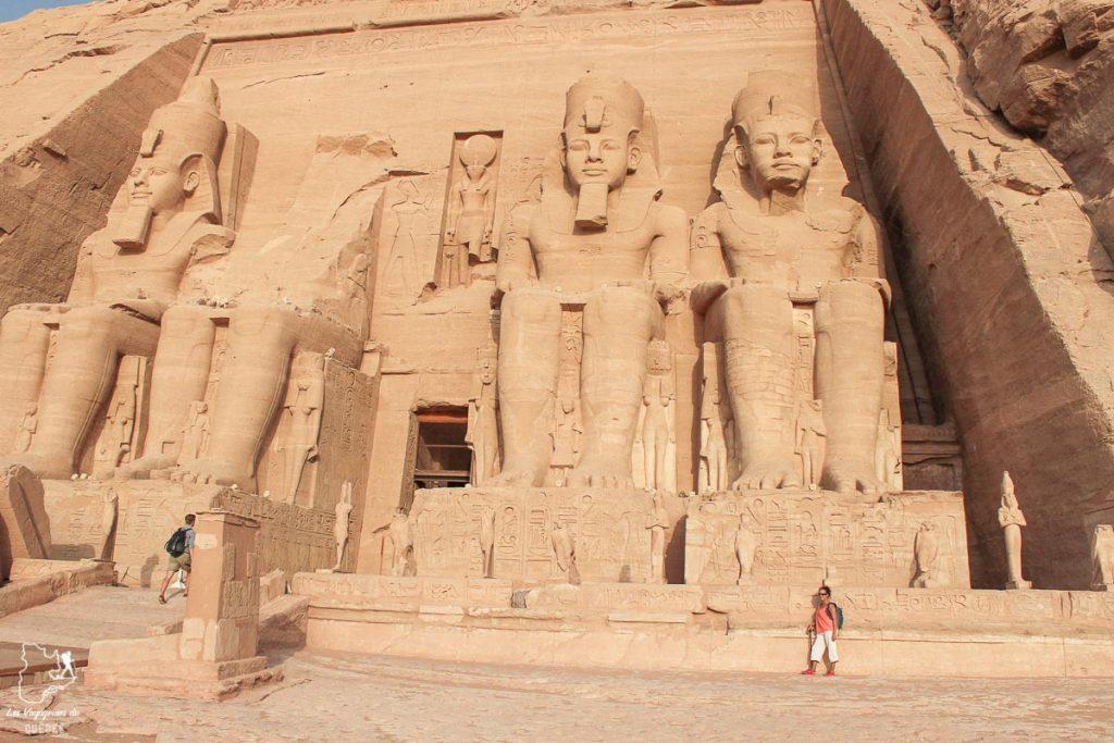 Temple de Ramsès II à Abou Simbel le long du Nil en Égypte dans notre article Le Nil en Égypte : L'itinéraire de mon voyage sur le Nil en train #egypte #nil #afrique #train #voyage #ramses #temple #abousimbel