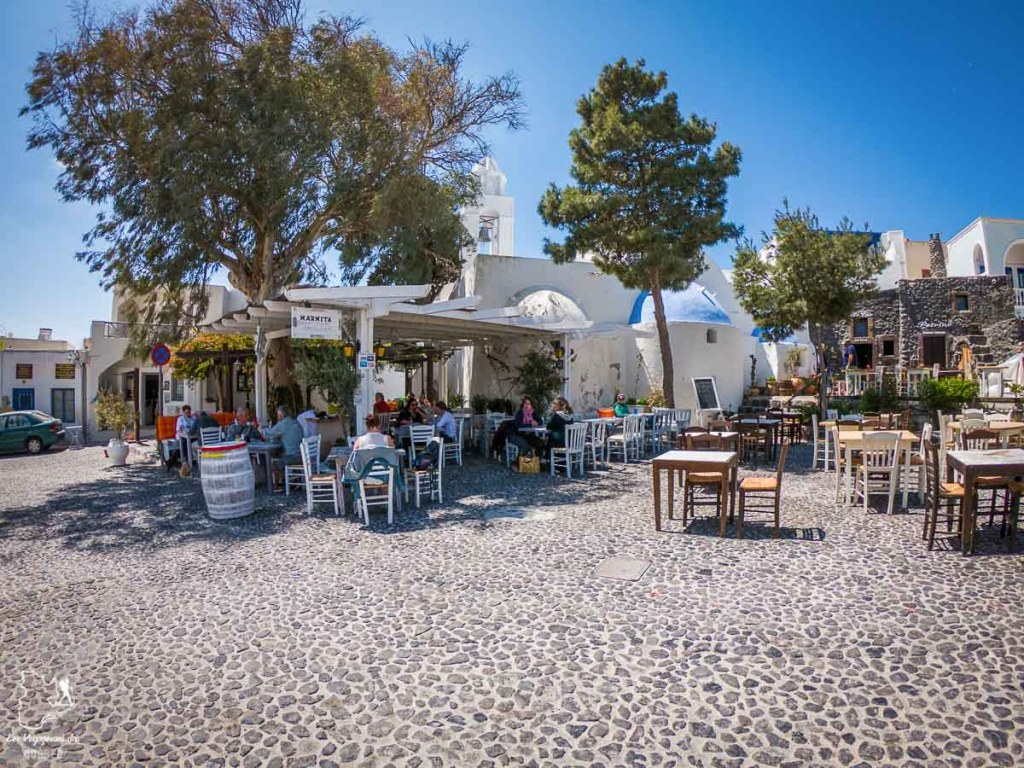 Chez Marmita, sur Santorini, pour goûter à de la cuisine grecque dans notre article La cuisine grecque : 10 expériences culinaires à vivre en Grèce #grece #cuisine #cuisinegrecque #culinaire #experiencesculinaires #voyage #europe #nourriture
