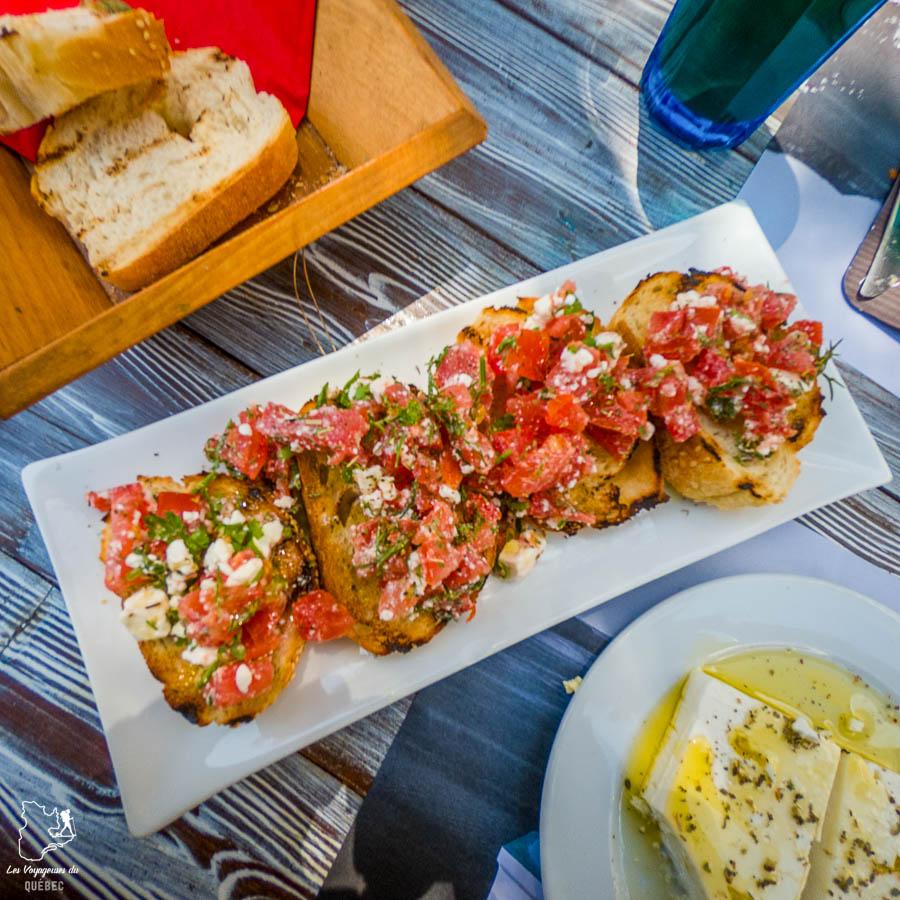 Bruschetta, dans la cuisine grecque, dans notre article La cuisine grecque : 10 expériences culinaires à vivre en Grèce #grece #cuisine #cuisinegrecque #culinaire #experiencesculinaires #voyage #europe #nourriture